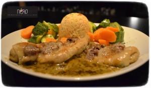 Κοτόπουλο ογκρατέν Nero Cafe Bar Restaurant
